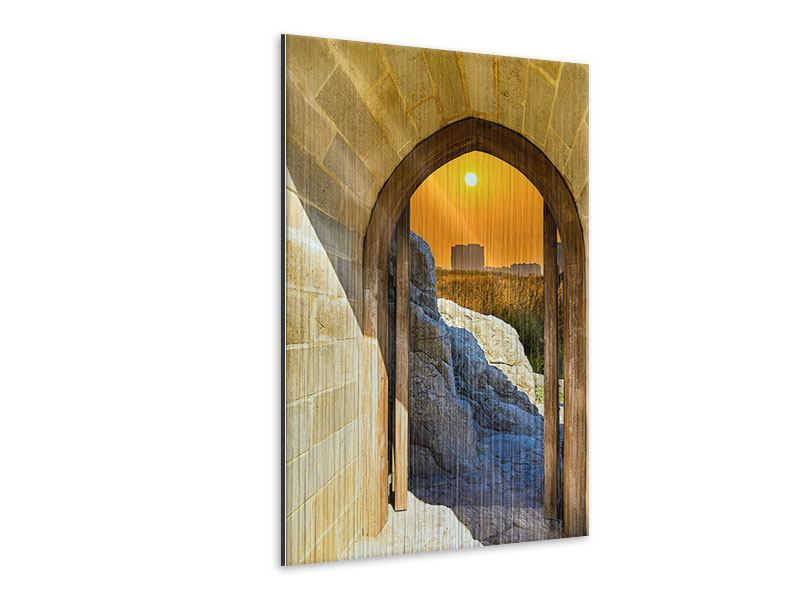 Metallic-Bild Das Tor