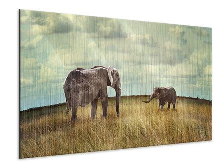 Metallic-Bild Elefanten und Feng Shui