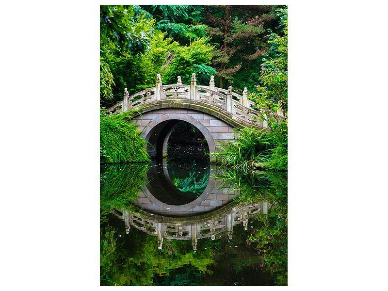 Metallic-Bild Der Traumhafte Garten