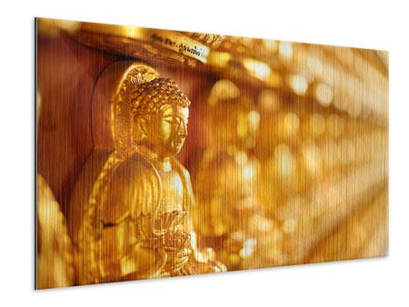 Metallic-Bild Buddhas