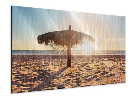 Metallic-Bild Der Sonnenschirm