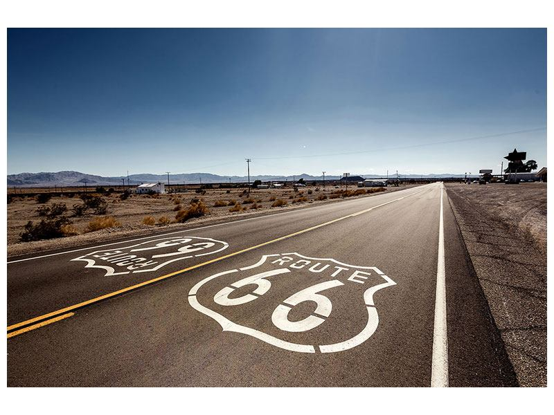 Metallic-Bild Route 66