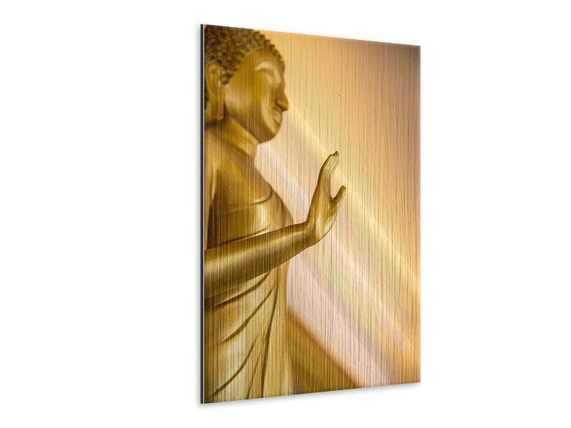 Metallic-Bild Buddha-Statue