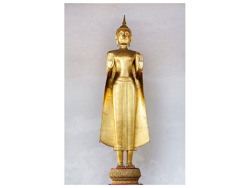 Metallic-Bild Goldener Buddha