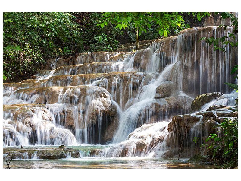 Metallic-Bild Mexikanischer Wasserfall