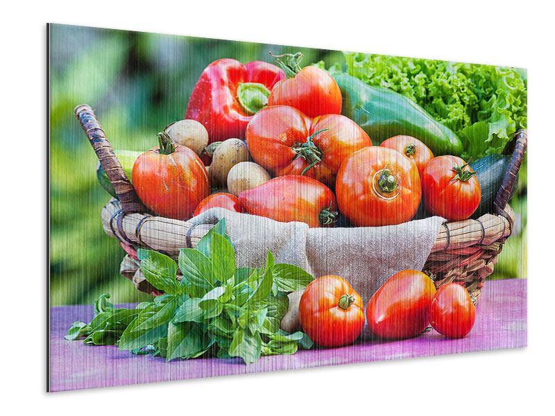 Metallic-Bild Gemüsekorb