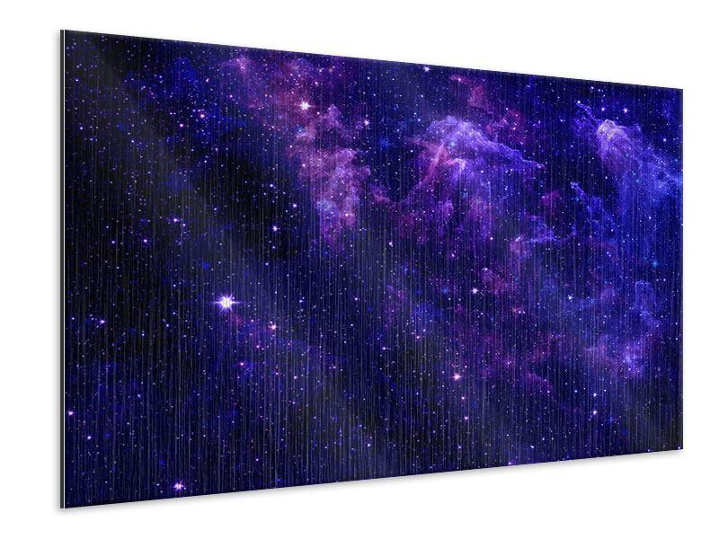 Metallic-Bild Ein Himmel voll Sterne