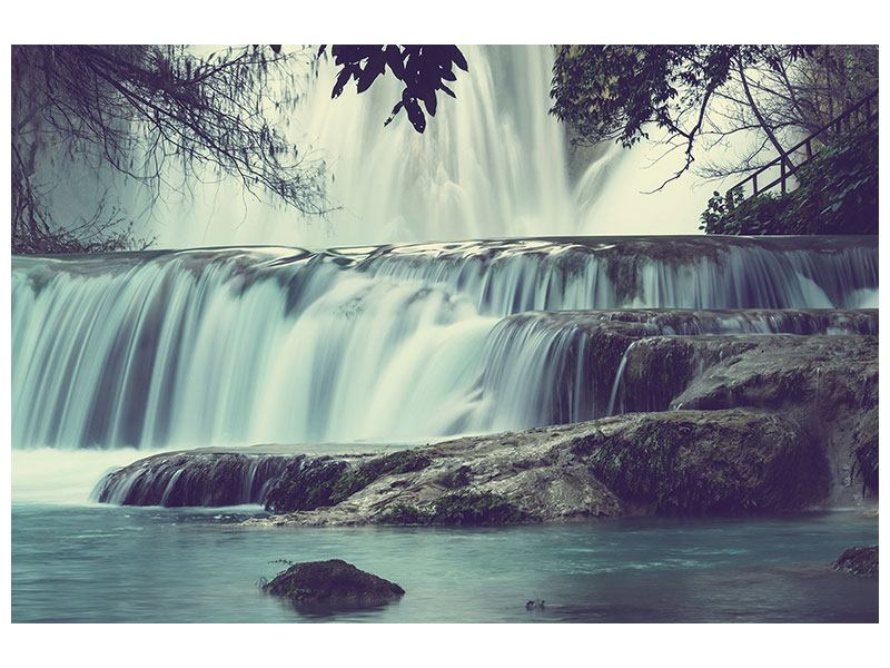 Metallic-Bild Wasserfall Mexiko