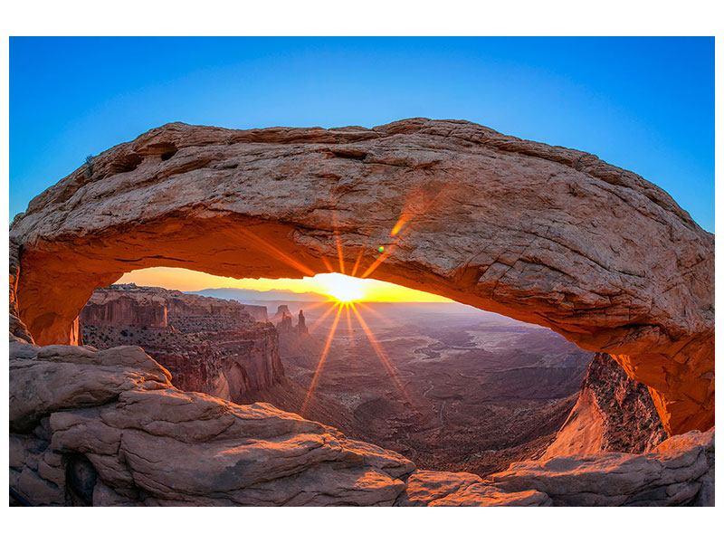 Metallic-Bild Sonnenuntergang am Mesa Arch