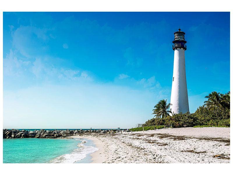 Metallic-Bild Cape Florida Ligthhouse