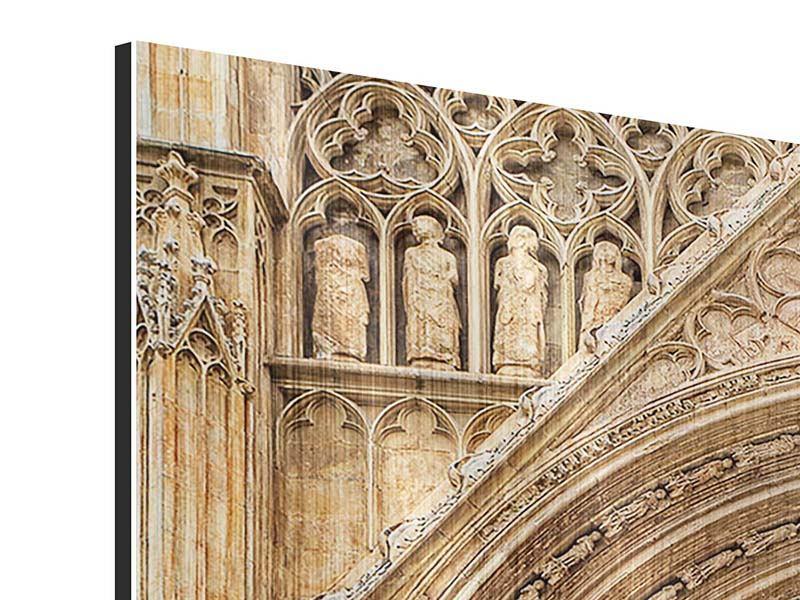 Metallic-Bild Kathedrale von Valencia