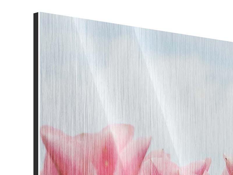 Metallic-Bild Zarte Tulpen