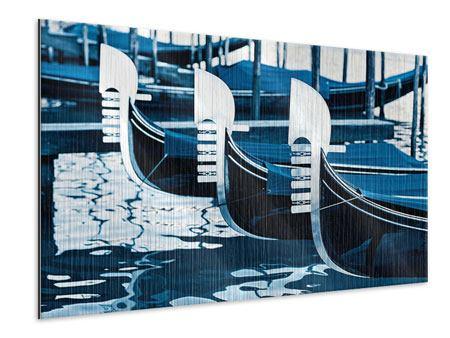 Metallic-Bild Gondeln in Venedig