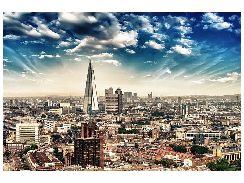 Metallic-Bild Skyline Über den Dächern von London