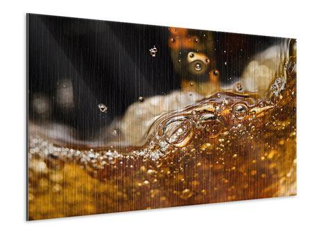 Metallic-Bild Cognac