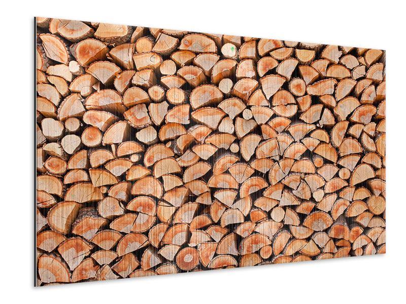 Metallic-Bild Birkenstapel