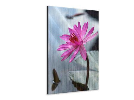 Metallic-Bild Grosse Lotus in Pink