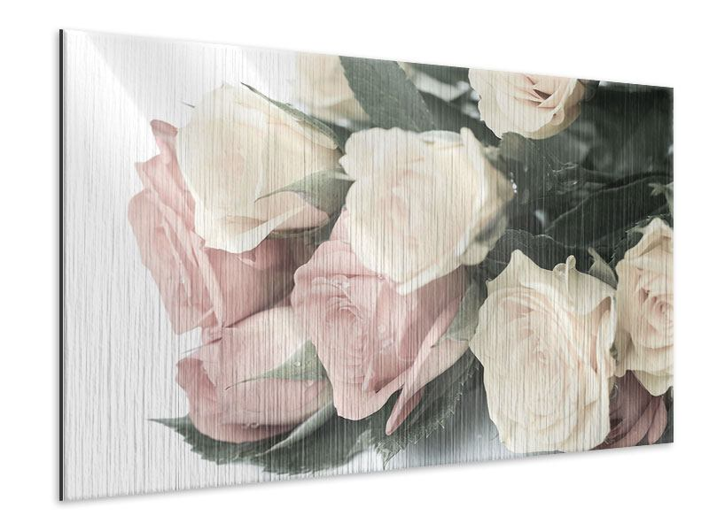 Metallic-Bild Rosenromantik