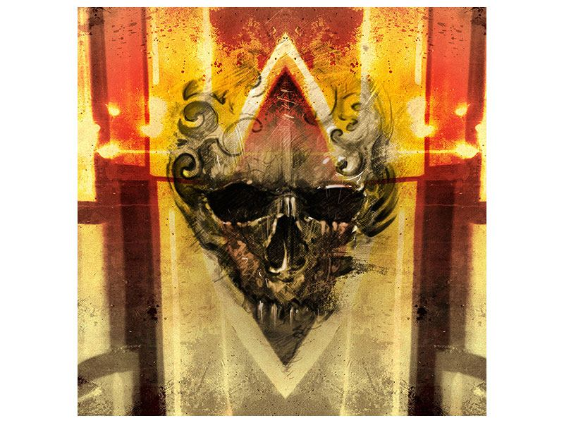Metallic-Bild Kunstvoller Totenkopf