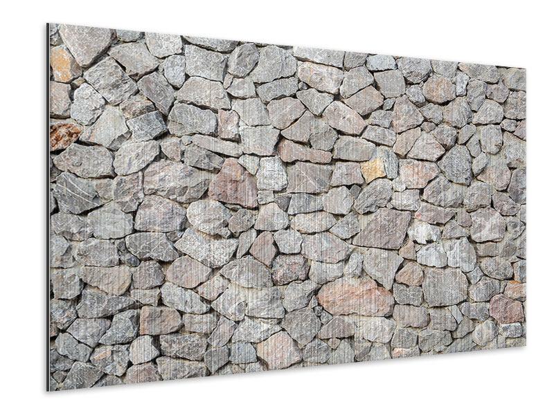 Metallic-Bild Grunge-Stil Mauer