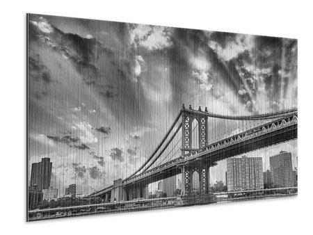 Metallic-Bild Manhattan Bridge