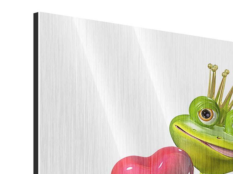 Metallic-Bild Froschkönig