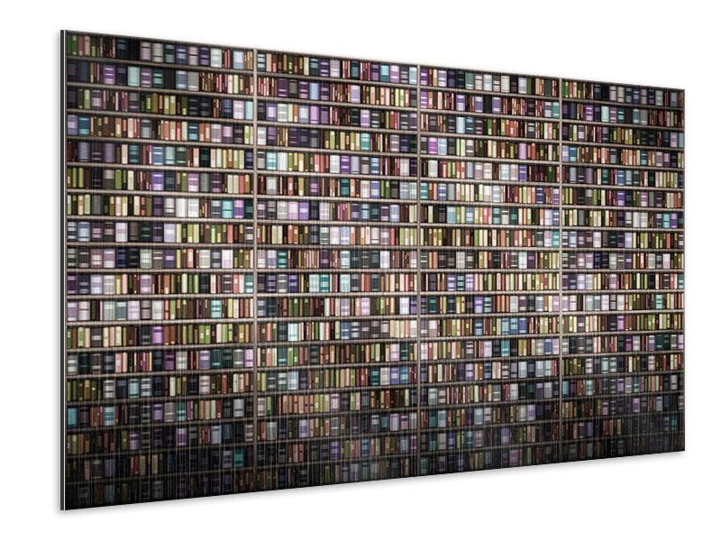 Metallic-Bild Bücherregal