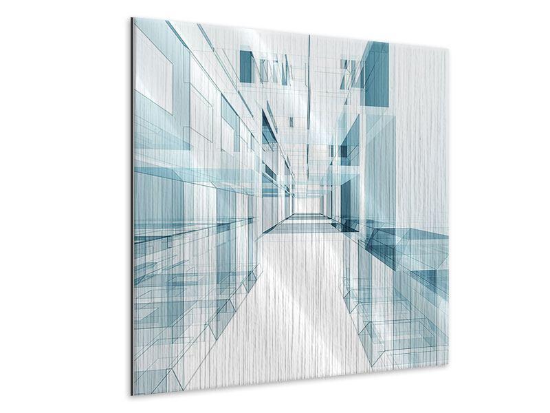 Metallic-Bild Raum der Räume