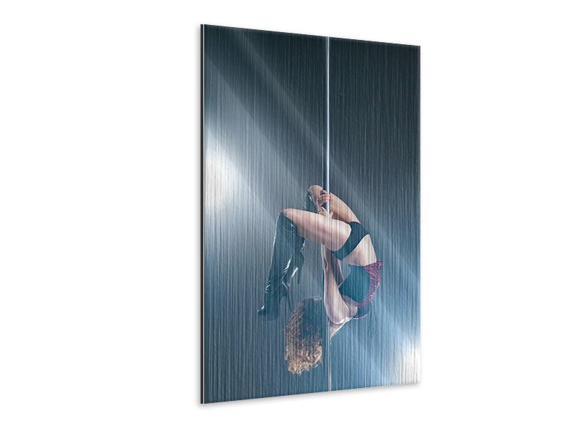 Metallic-Bild Poledance