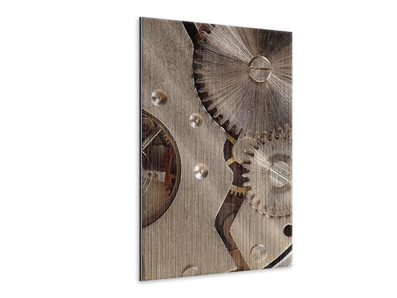 Metallic-Bild Uhrwerk