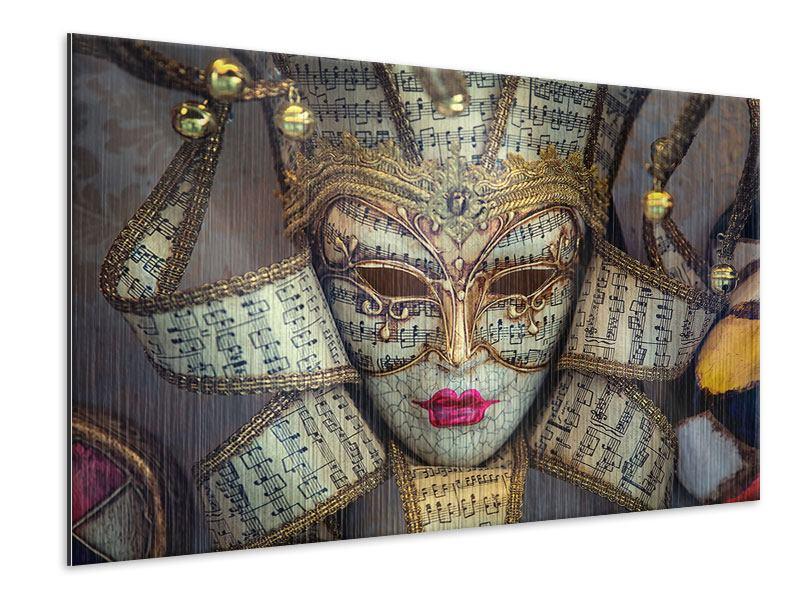 Metallic-Bild Venezianische Maske