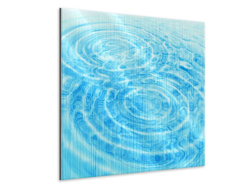 Metallic-Bild Abstraktes Wasserbad