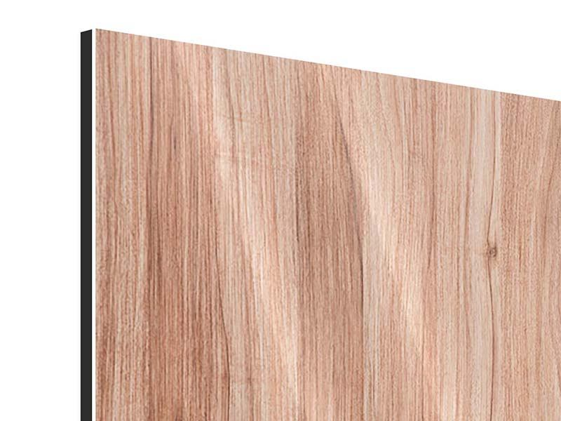 Metallic-Bild Holzdesign