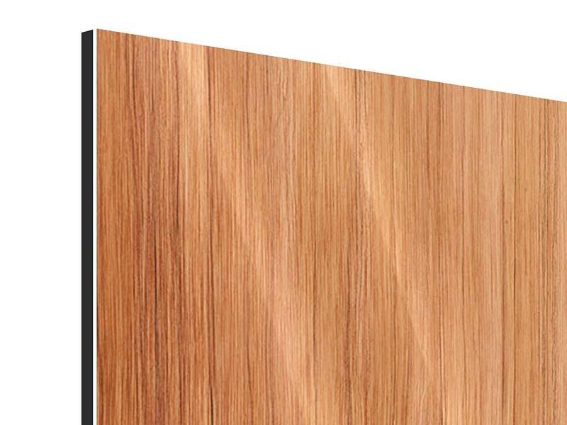 Metallic-Bild Holzchalet