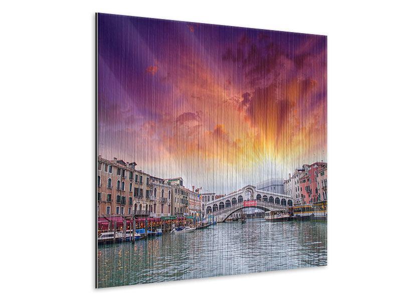 Metallic-Bild Venedig