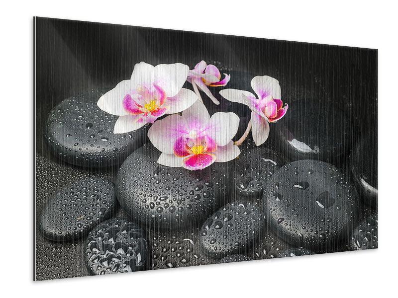 Metallic-Bild Feng-Shui-Orchidee Zen