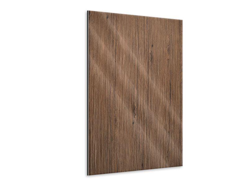 Metallic-Bild Teak-Holz