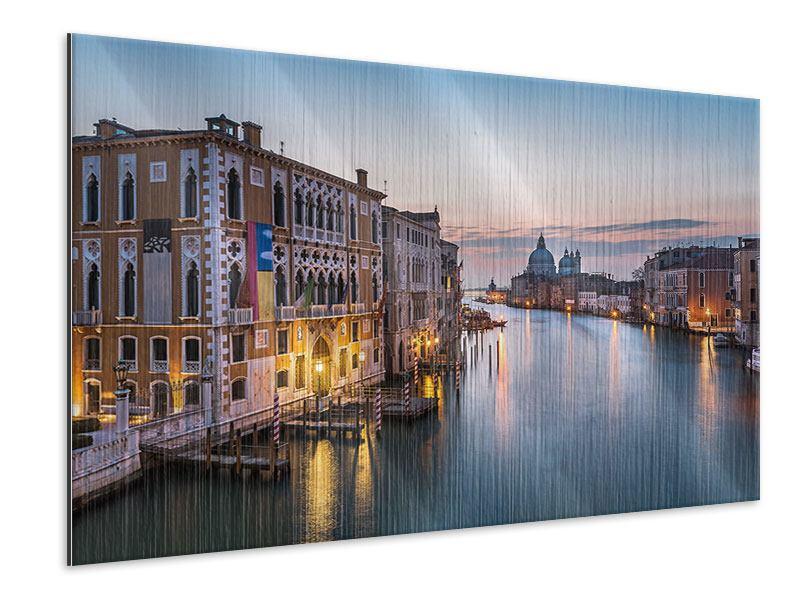 Metallic-Bild Romantisches Venedig