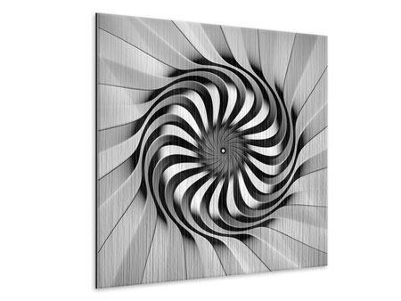 Metallic-Bild Abstrakte Spirale