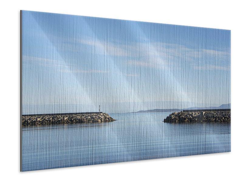 Metallic-Bild Hafenmauern