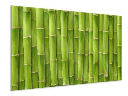 Metallic-Bild Bambuswand