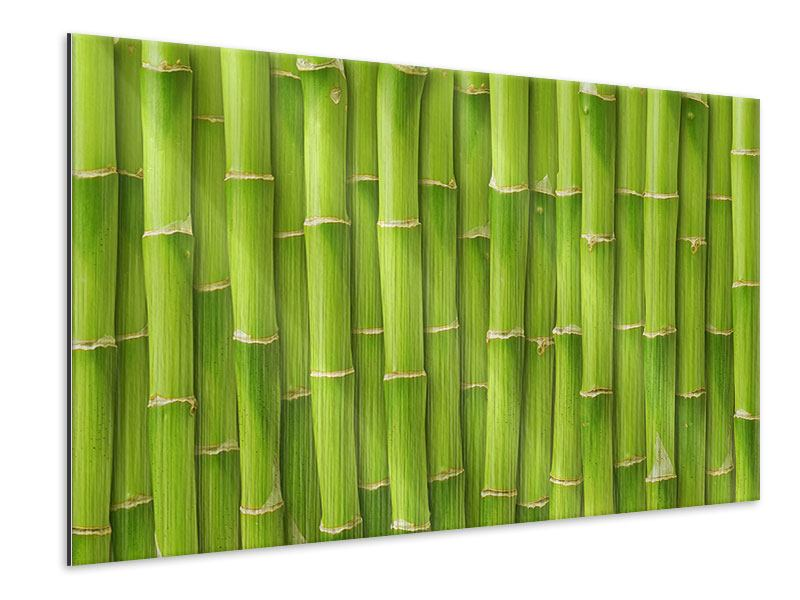 Metallic Print Bamboo Wall