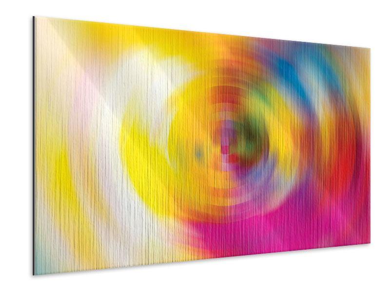 Metallic-Bild Abstrakte Farbkreise