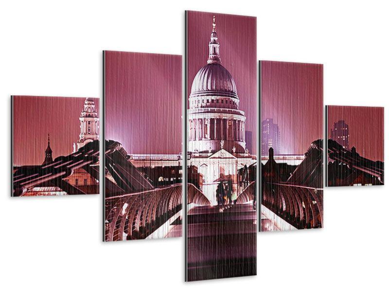 Metallic-Bild 5-teilig Millennium Bridge