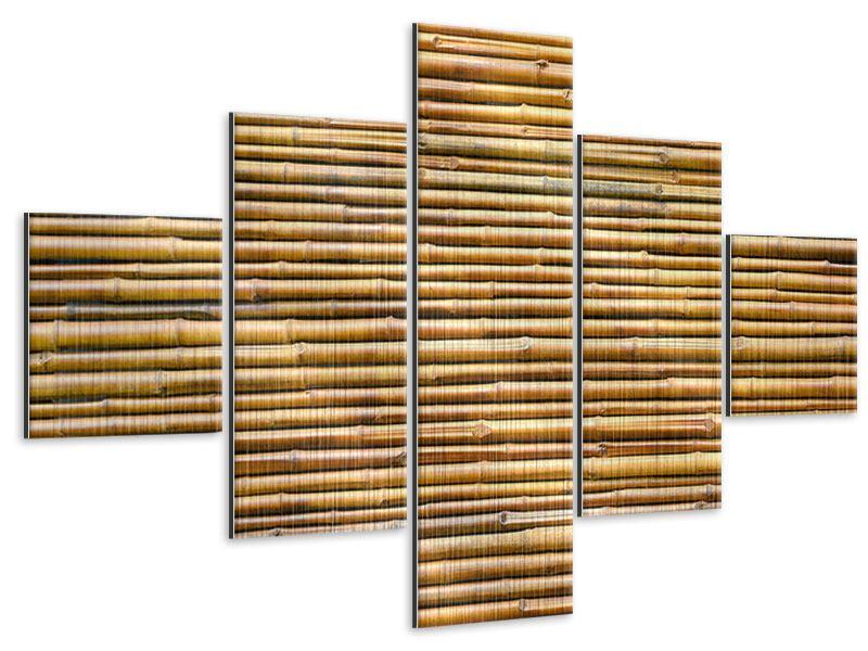 Metallic-Bild 5-teilig Bambus