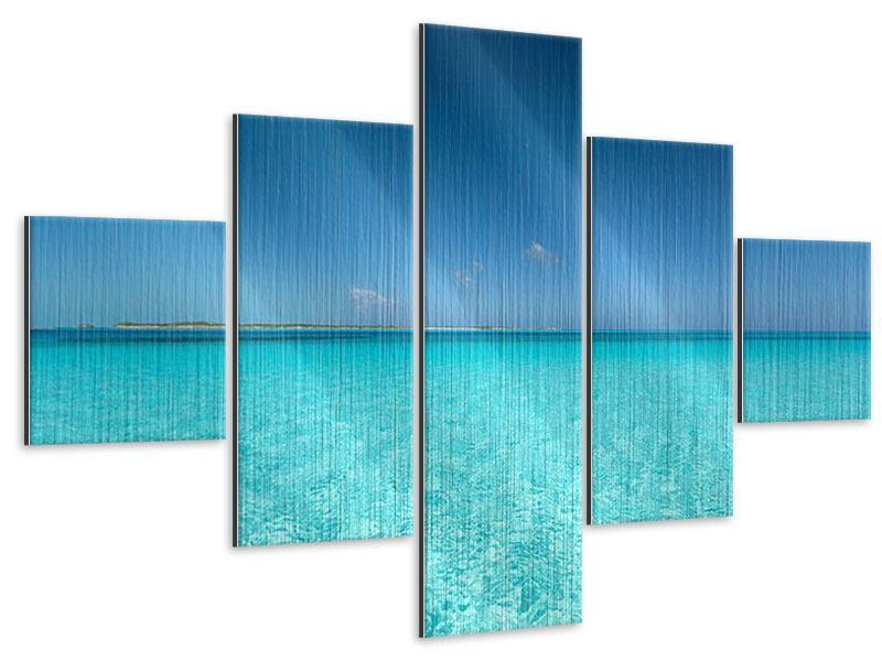 Metallic-Bild 5-teilig Das Meer und Jules Verne