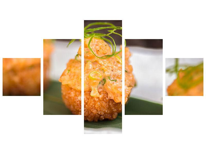 Metallic-Bild 5-teilig Asiatische Küche