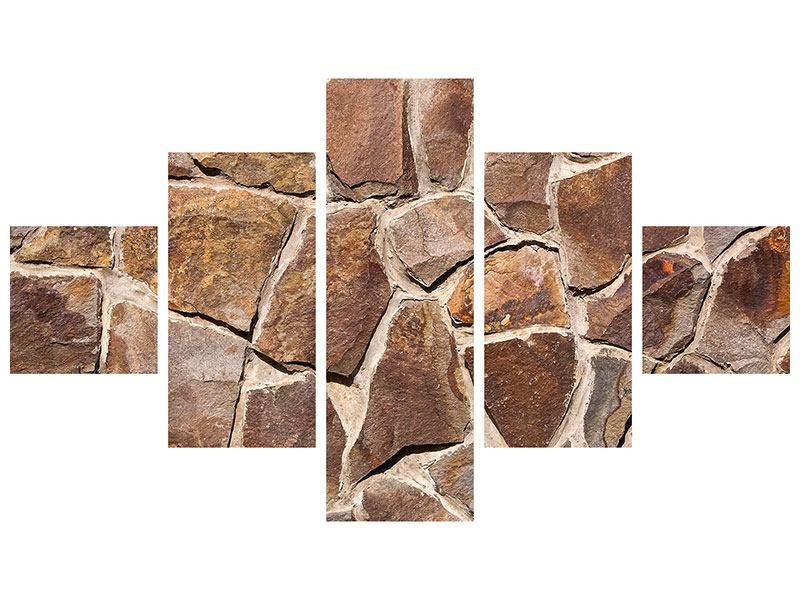Metallic-Bild 5-teilig Designmauer