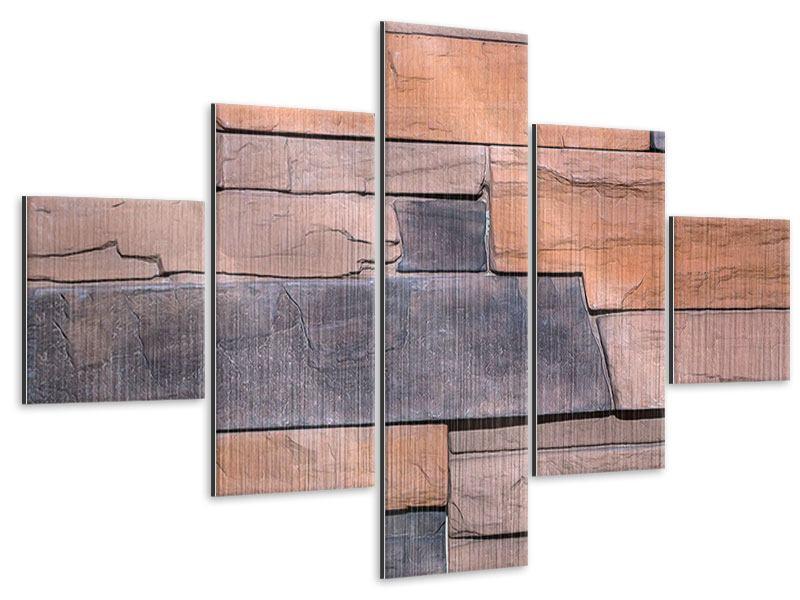 Metallic-Bild 5-teilig Wall
