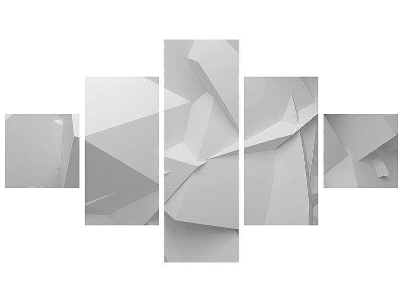 Metallic-Bild 5-teilig 3D-Raster